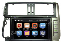 Wholesale 2Din 8inch Car dvd player stereo audioradio Fit TOYOTA PRADO 2010 2011 2012-2014 3G GPS MAP BT FM RDS  free shipping