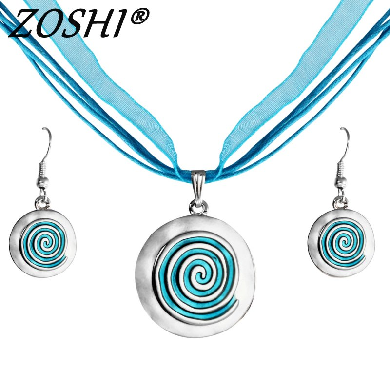 ZOSHI Brand 2017 Fashion Wedding Party Jewelry Sets Women Indian Bridal Statement Necklace Earrings Accessory Love