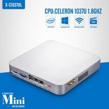 Mini PC Celeron C1037U 2 * RJ-45 Barebone Thin Client Terminal de PC fino Mini computador apoio Win 7 XP sistema