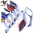 carbon fibre color racing motorcycle rearview mirror for yamaha honda suuzki 10mm 8mm motorbike side mirror modified accessories
