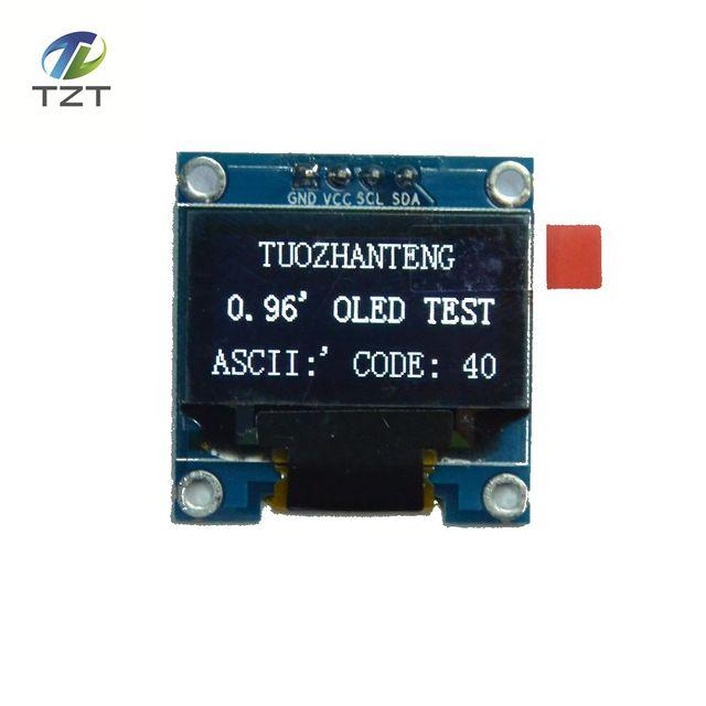 1ピースホワイト色0.96インチ128 × 64 oledディスプレイモジュールarduinoのため0.96 iic spi通信