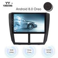 9 «Android 8,0/8,11 Дин радио для Subaru Forester WRX Impreza мультимедиа навигации 2008 2009 2010 2011 2012 Wi Fi Bluetooth