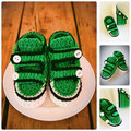 Green Loafer Baby Shoes, Newborn Crochet Booties, Infant Crochet Slippers, Baby Loafers, Baby Boy Green Shoes, Baby shower gift