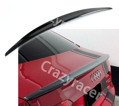 A5 Coupe 2 Door Carbon Fiber Rear Trunk Boot Lip Spoiler Wing For Audi A5 2008-2016 S line Style mercedes carbon fiber trunk amg style spoiler fit for benz e class w207 2 door 2010 2015 coupe convertible vehicles