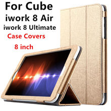Case For Cube iwork 8 Air Protective Smart cover Leather Protector Tablet PC For Cube iwork8 Ultimate PU Sleeve 8 inch Covers