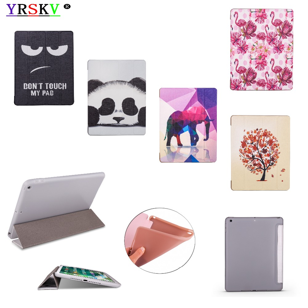 Case for iPad 9.7 inch 2018 / 2017 YRSKV Painted Ultra Slim Light weight PU leather cover+TPU shell Smart Sleep Wake Tablet Case