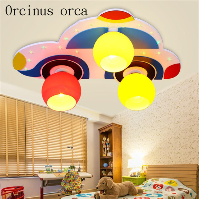 Cartoon Car Led Ceiling Lamp Children S Room Boy Bedroom Kindergarten Decorative Free Shipping