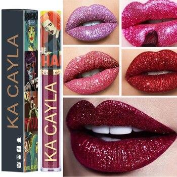c5edc4ae7 8 Colors Makeup Halloween Festival Shining Shimmer Lip Stick