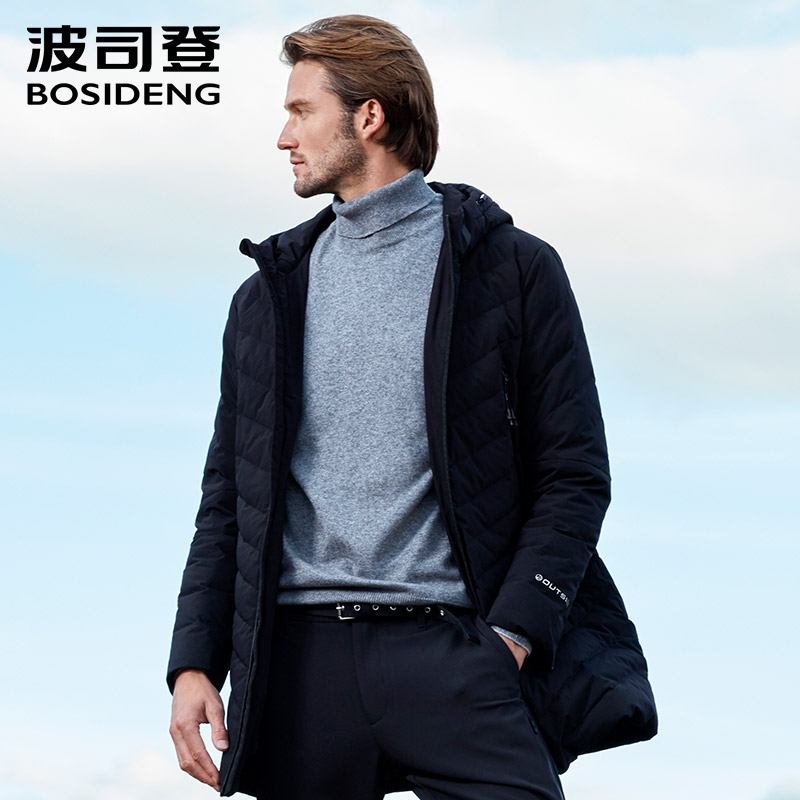 BOSIDENG New Winter Duck Down Jacket For Men Hooded Down Coat Winter Outwear Casual Outwear Waterproof B80132009
