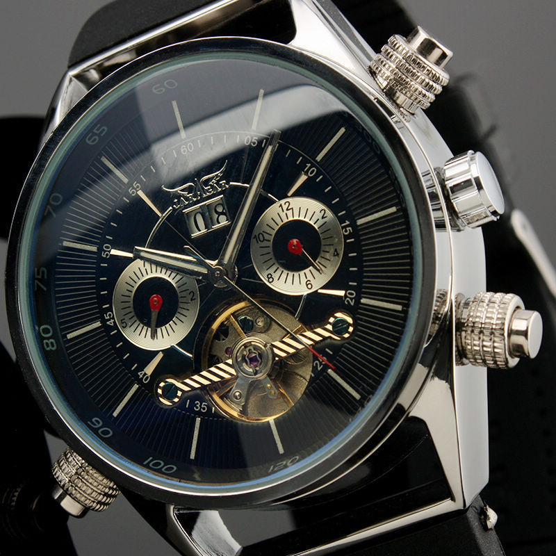 JARAGAR Watches Men Luxury Flying Automatic Tourbillon