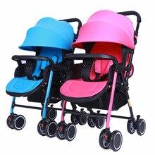 Коляска для близнецов легкая прогулочная коляска двойная коляска 3C tweeling cochecito bebe gemelar Складная Съемная пляжная тележка
