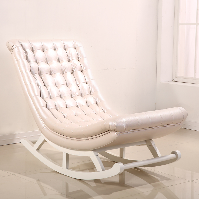 modern design rocking chair white leatherwood home furniture living room adult luxury rocking chair rocker chaise design in living room chairs from - Chaise Salon Design