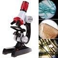 Kit laboratório 100x-1200x microscópio educacional toys home a escola gift toy educacionais para crianças