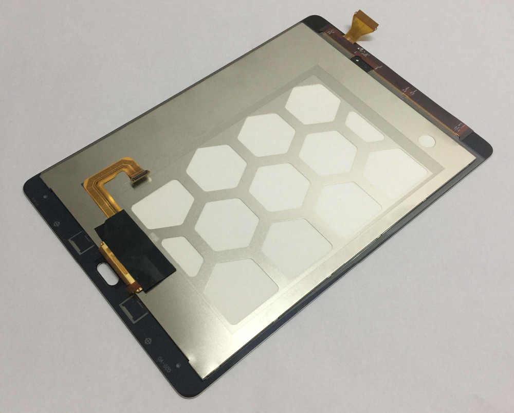 """لسامسونج غالاكسي تبويب أ 9.7 """"SM-T550 T550 جهاز مراقبة بشاشة إل سي دي وحدة محول الأرقام بشاشة تعمل بلمس لوحة الاستشعار استبدال الجمعية"""