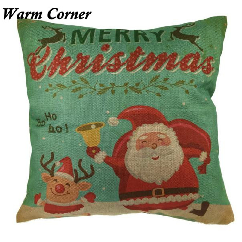2017 New Arrival So Hot 45cm*45cm Vintage Christmas Santa Soft Pillow Case Halloween Free Shipping Sept 23