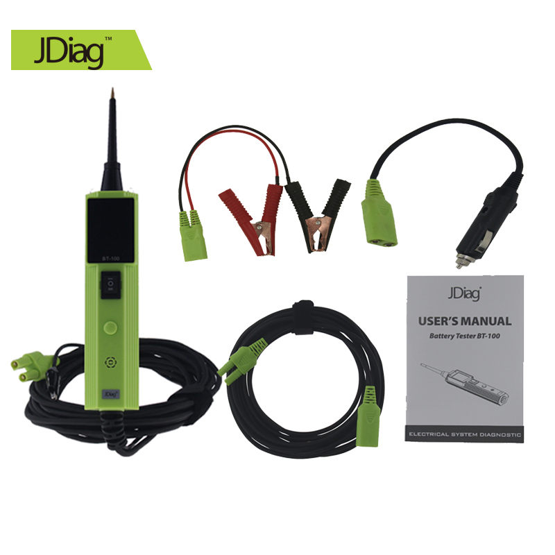 JDiag BT-100 Battery Tester Electrical System Tester Same as Autek YD208  Better Than YD208 Car Electric Circuit Tester 2016 rainbow stripes tote bag stylish hollow out beach bag ladies shoulder handbag summer shopping bag for women big m47