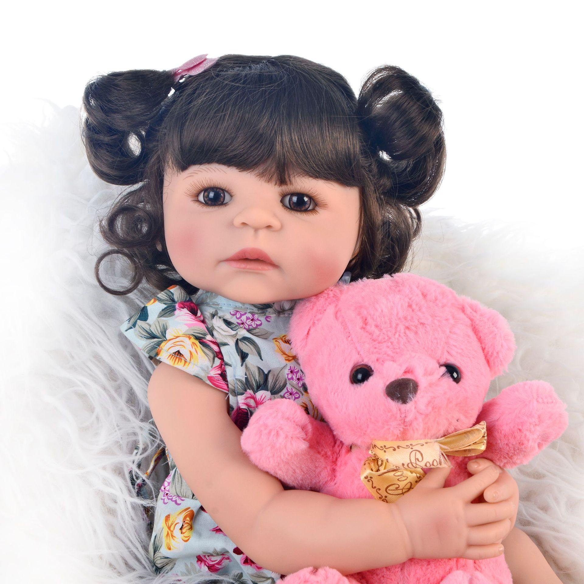 Jolis bébés poupée en Silicone fille poupée Reborn jouets pour enfants cadeau star bébé reborn poupées jouet de bain porter des vêtements nouveau-né victori