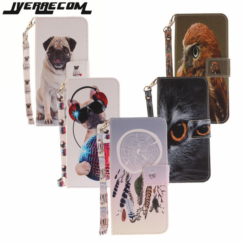 JYERAECOM Retro Flip Wallet Case For Apple iPhone 7 PU Leather+Silicon Cover For Apple iPhone 7 Case Phone Coque