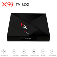 X99 TV BOX RK3399 Mali T860MP4 4GB RAM 32GB ROM Android 7.1 HDR10 2.4G + 5G + AC WIFI BT4.1 4K UHD Media Player Android TV Box