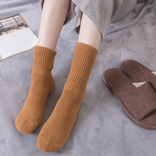 10 color ladies socks warm autumn and winter style retro cotton winter socks solid color simple fashion women's socks FAZ0050