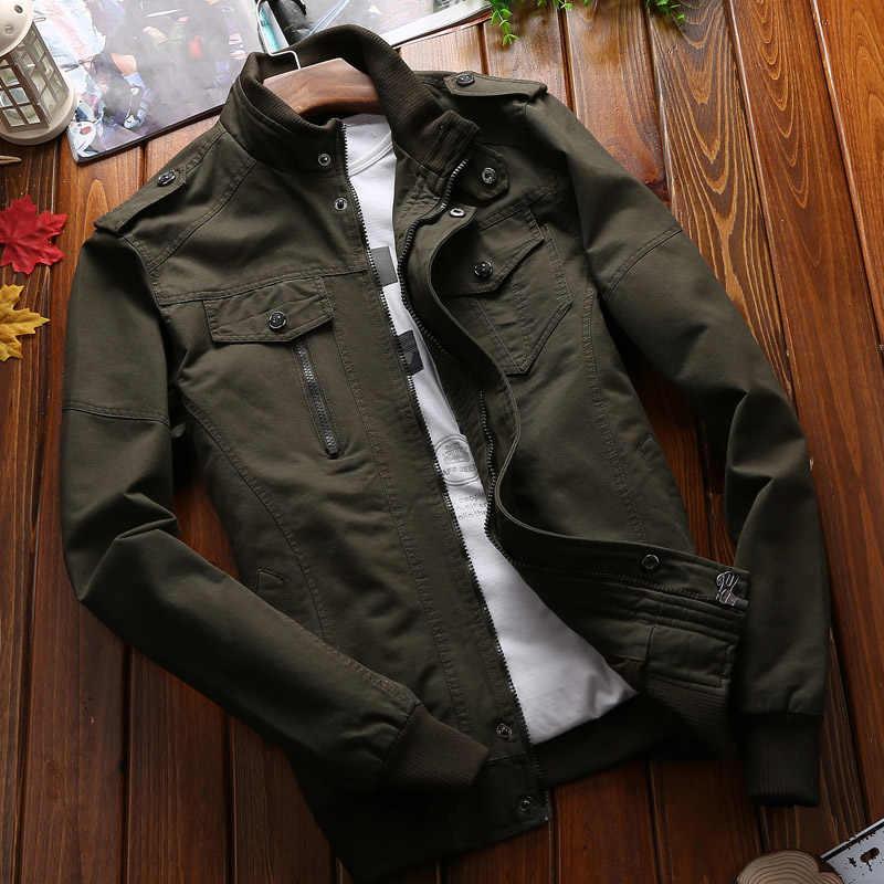 Chaqueta militar táctica hombres ejército verde bombardero chaquetas hombres Casual moda Chaqueta Hombre Outwear sólido rompevientos ropa