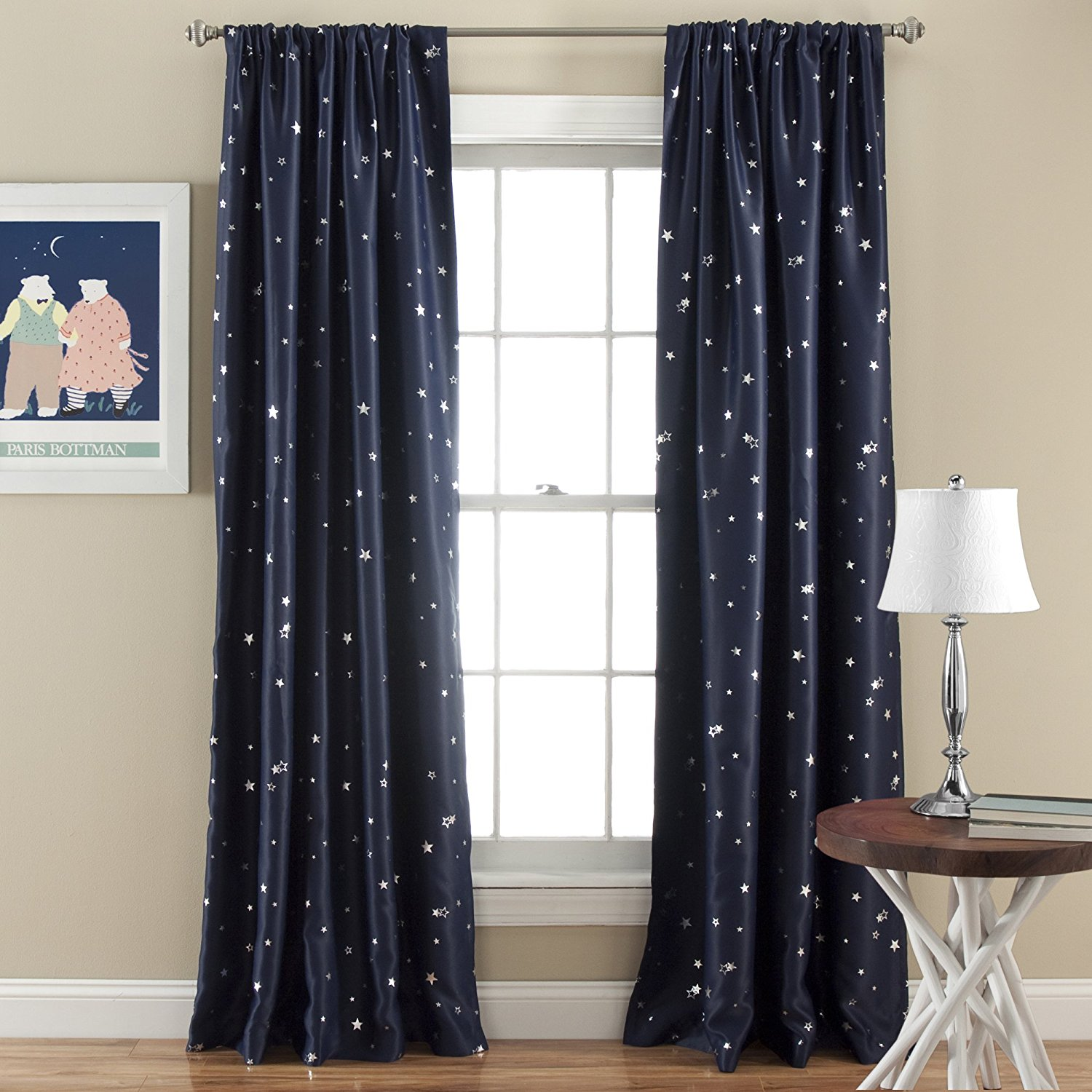Modern curtain patterns - Star Pattern Modern Window Curtain For Living Room Bedroom Thick Night Curtains Drapery Ready Made