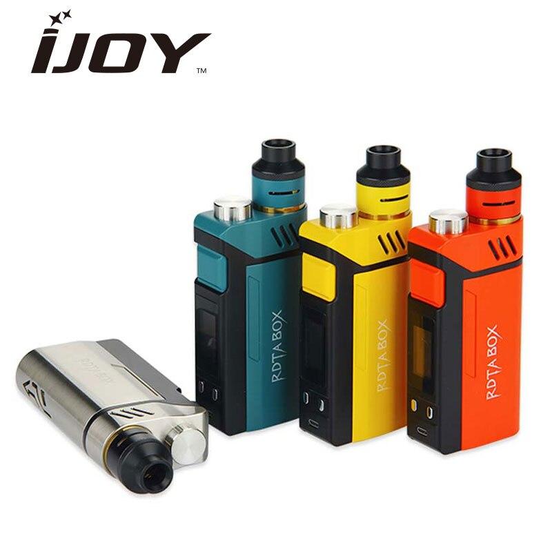 Eredeti IJOY RDTA BOX Mod 200W + 12.8ml Nagy e-juice tartálytompító és RDTA BOX MOD & IMC-3 / IMC-tekercs 3 tekercs e-cigaretta