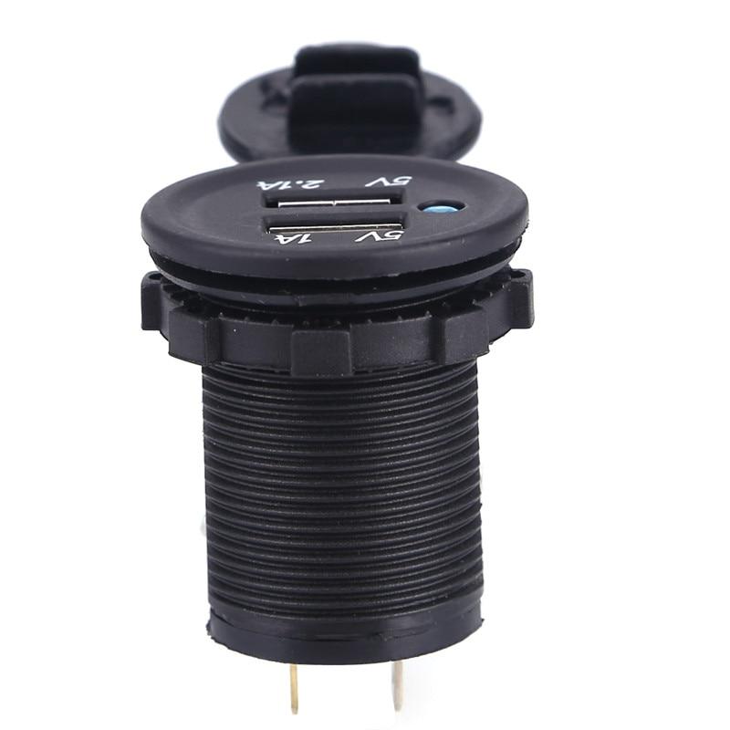 Universal Dual LED Billaddare Adapter Laddare Socket Vattentät Dual - Reservdelar och tillbehör för mobiltelefoner - Foto 6