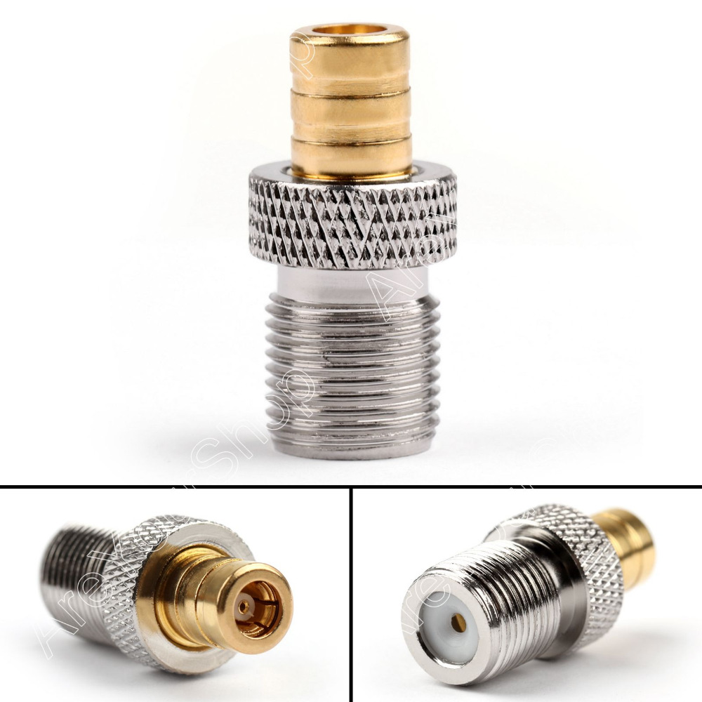 4Pcs SMB Jack Pulg Female to F Jack Female Straight Coaxial Adapter Coupler Connector New Arrival Adapter for Wire Cable 3pcs lot f connector male to pal female jack straight rf coaxial adapter good for f new tv type connector