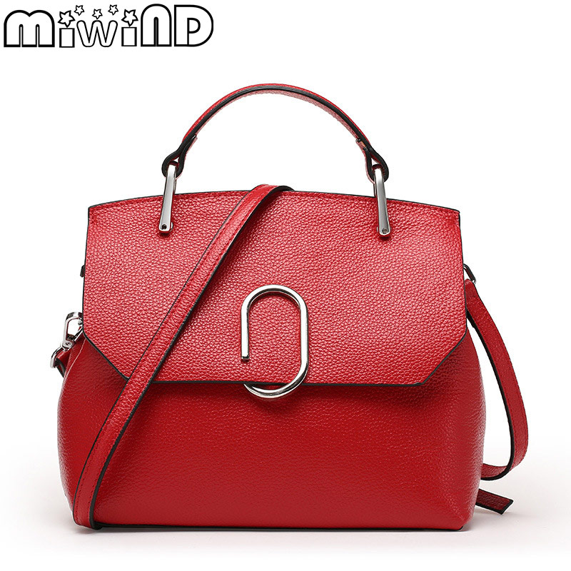 MIWIND 2017 New Shells Handbags Women Genuine Leather Shoulder Bags European and American Style miwind 100