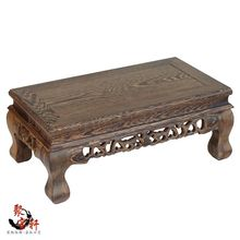 Chicken wing jade Buddha carved wooden furnishing articles at home aquarium mahogany base