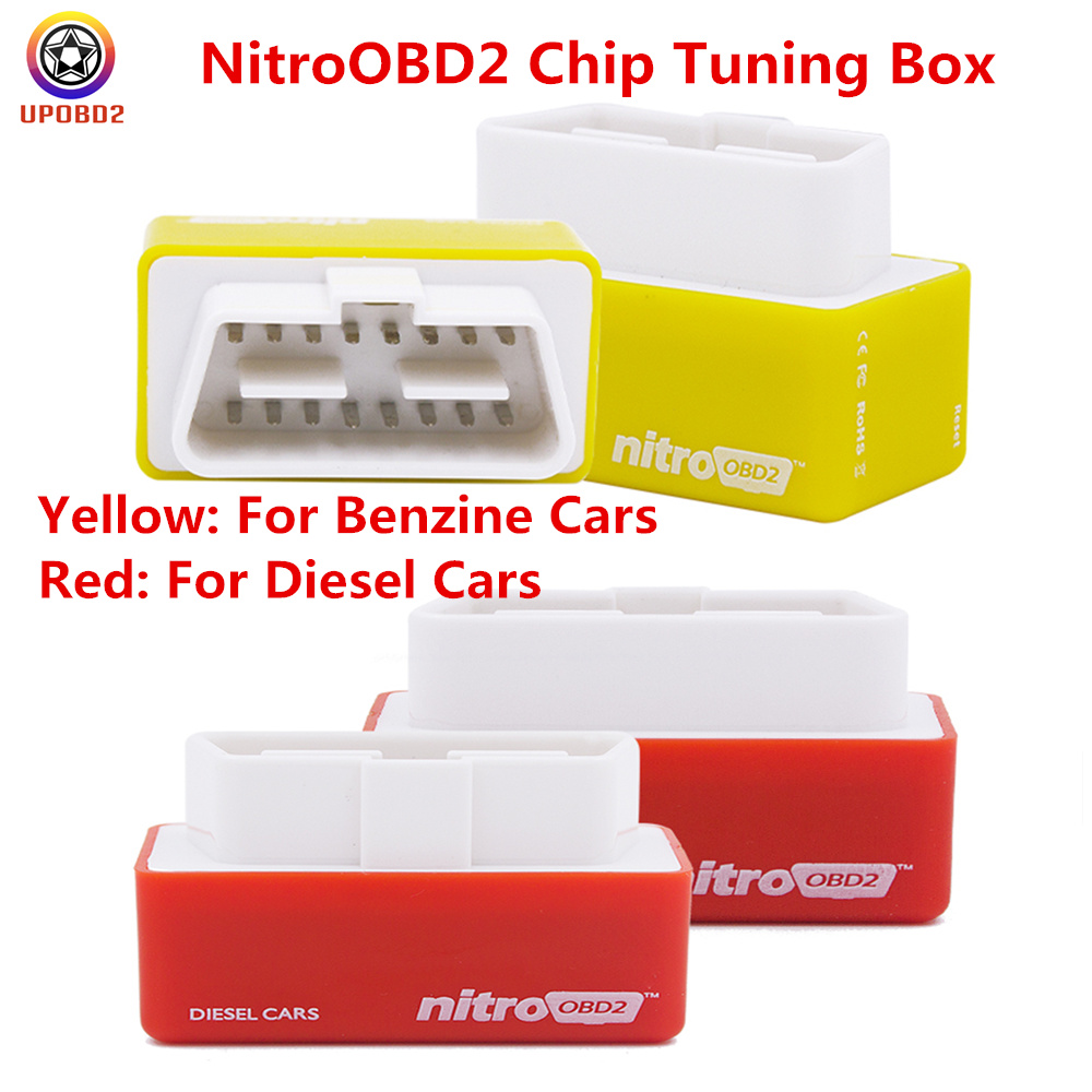 Back To Search Resultshome Nitroobd2 Chip Tuning Box Yellow/red For Benzine/diesel Cars Nitro Obd2 Obd Interface Plug And Drive Nitroobd More Power/torque