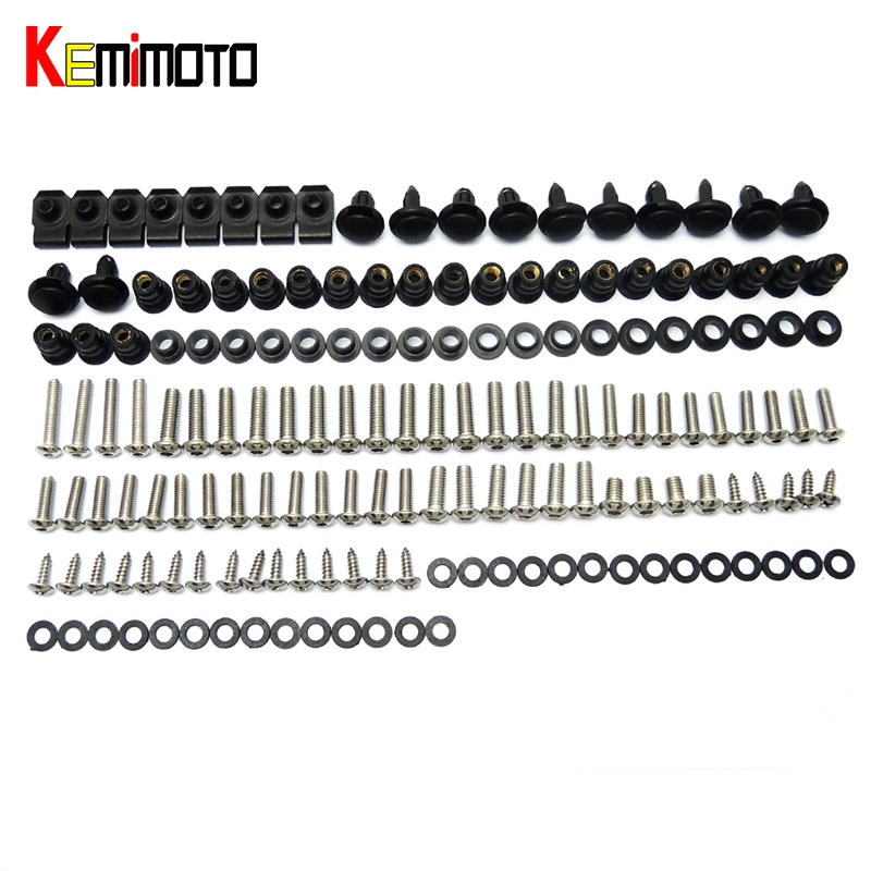 Complete Fairing Bolt nut screw Kit For HONDA CBR600RR CBR 600 RR 2007-2010 2007 2008 2009 2010 fairing bolt screw Accessories