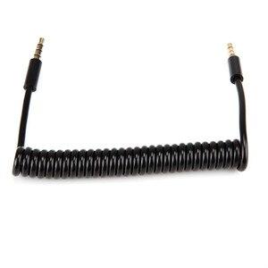 Malloom 1/3M Черный 4-полюсный спиральный 3,5 мм Aux кабель с микрофоном Золотой стерео аудио вспомогательный шнур для компьютера/MP3/MP4 #28