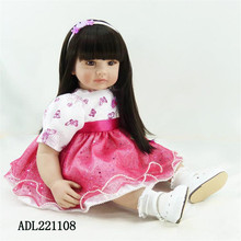 22 inch 55 cm  reborn Silicone  dolls, lifelike doll reborn babies toys Beautiful holiday gift doll