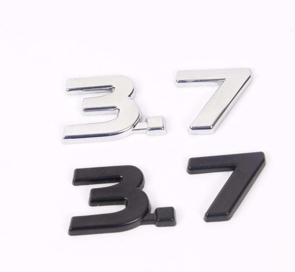 Black Qx70 >> 5X New Chrome Black 3.7 3D Metal Car Auto Badge Emblem Sticker Chrome for Infiniti Q50 Q50L G37 ...