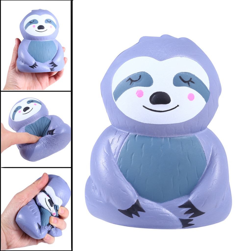 NEW Simulation Sloth Gift Toy Elastic Very Kawaii Anti-stress Sloth Slow Rising Squeeze Relieve Squishies Fun Kids Toys