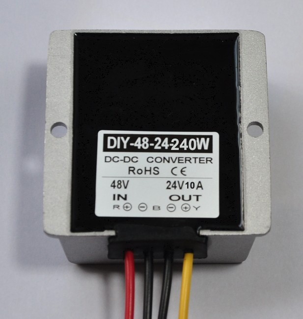 купить 48V(30V-60V)Step Down 24V 10A 240W DC-DC Converter Module DC Buck Converter Voltage Power Converter Adapter Regulator Waterproof по цене 2254.12 рублей