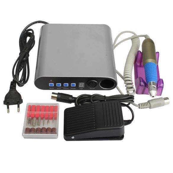 ФОТО  Pro Electric Nail File Drill Bit Manicure Kits Nail Art Pedicure Machine Set Sanding Band Nail Accessory Tools    YF201