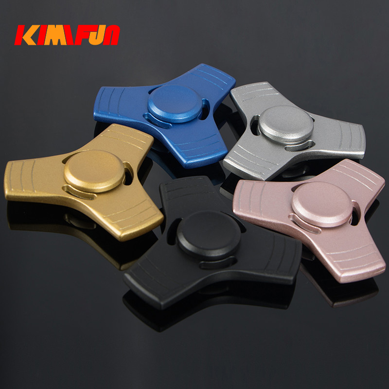 NEW EDC Tri Spinner Fidget Toys Zinc Alloy Hand Spinner Toys For Autism and ADHD Rotation