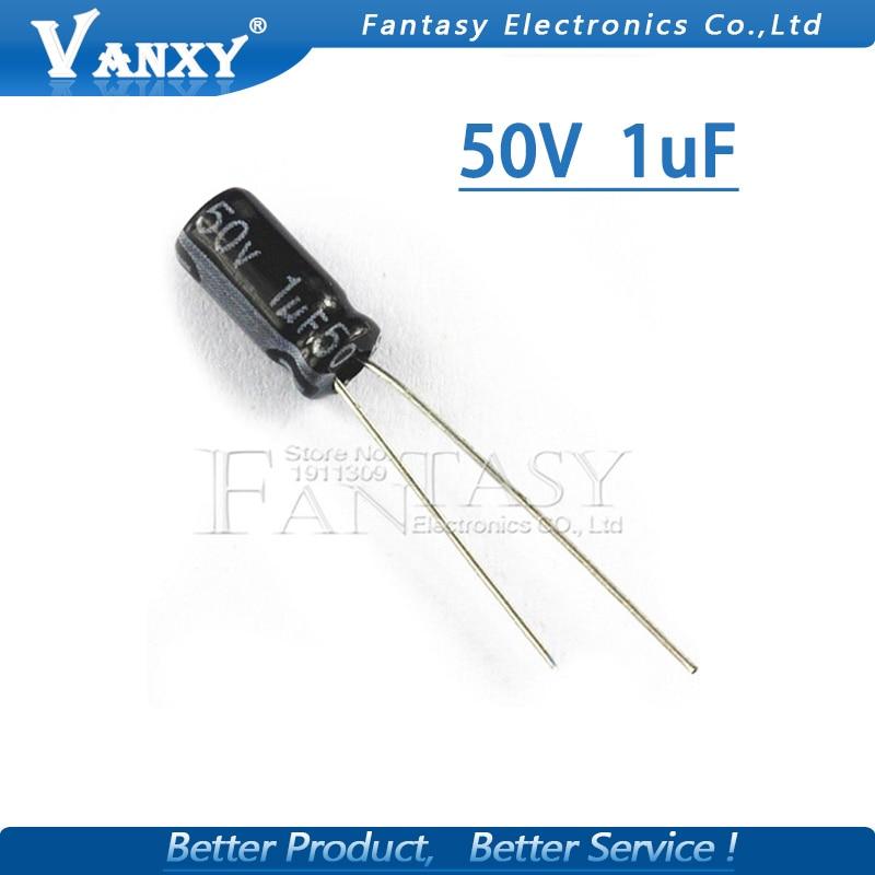 50PCS Higt quality 50V1UF 4*7mm 1UF 50V 4*7 Electrolytic capacitor50PCS Higt quality 50V1UF 4*7mm 1UF 50V 4*7 Electrolytic capacitor