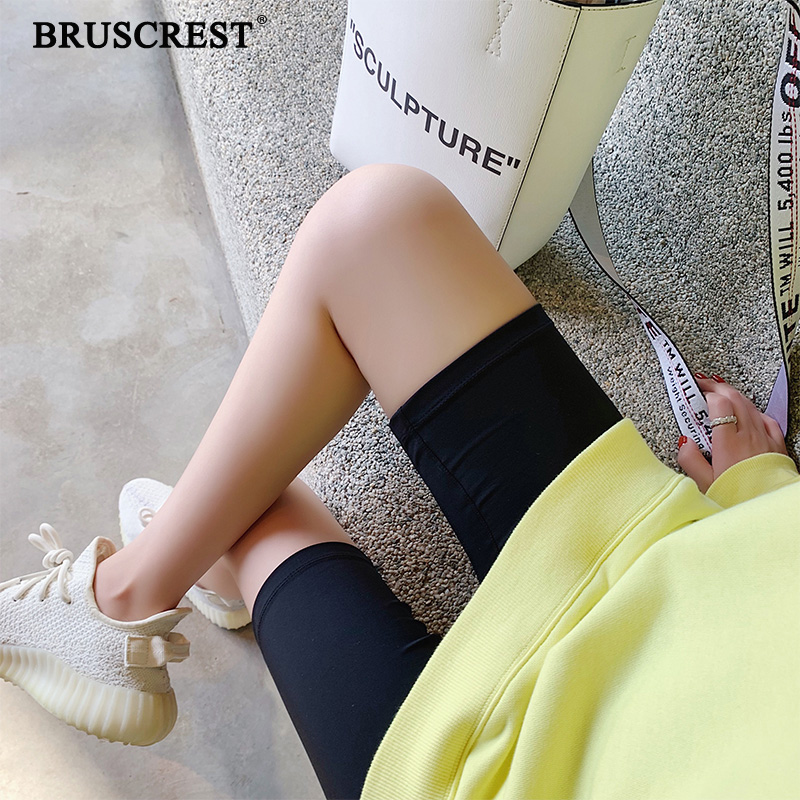 Black biker   shorts   high waist   shorts   vintage cotton ladies summer   shorts   feminino khaki   short   pants women 2019