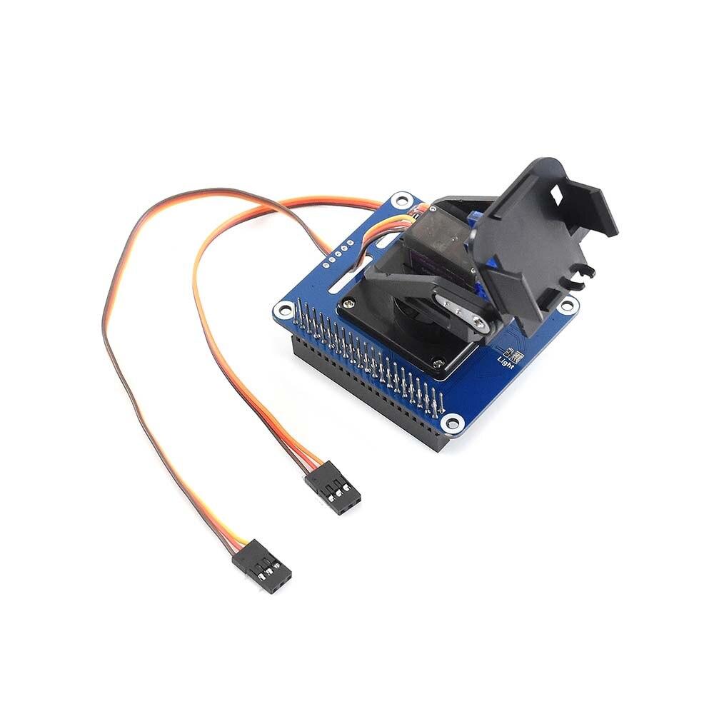 Waveshare 2-DOF Pan-Tilt HAT For Raspberry Pi Light Intensity Sensor Features PCA9685 PWM Chip And TSL2581 Ambient Light Sensor