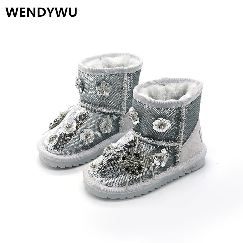 2107 Hot winter children fashion princess boots for baby girls glitter shoes toddler pu leather boots kids brand snow boots baby girls princess shoes kids children princess shoes baby girl first walkers flower toddler infant shoe baby kids shoes