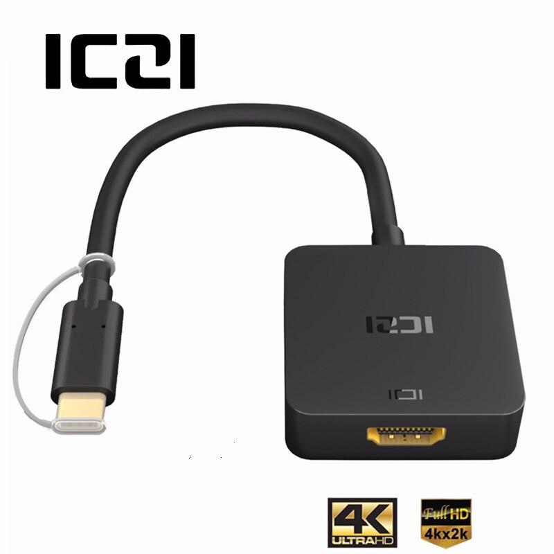 ICZI 4 k USB 3.1 di Tipo C a HDMI Cavo Adattatore Thunderbolt 3 USB C Cavo di HDMI per MacBook Chromebook pixel Samsung S8 S9