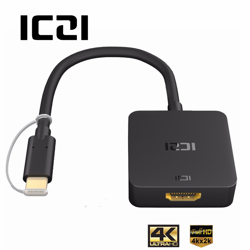 ICZI USB 3.1 Type C to HDMI Cable Adapter Thunderbolt 3 4K@30HZ USB C HDMI Cable for MacBook Chromebook Pixel Samsung S8 S9