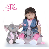 NPK High end vinyl silicone reborn baby doll toy newborn girl babies princess doll birthday holiday gift bedtime play house toy