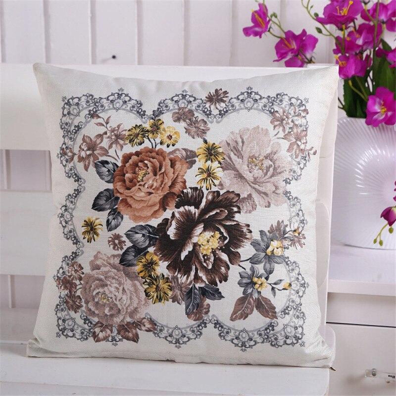 45*45 см из хлопка и льна цветок классический Спальня Гостиная наволочка служебный автомобиль диван-кресло чехлы