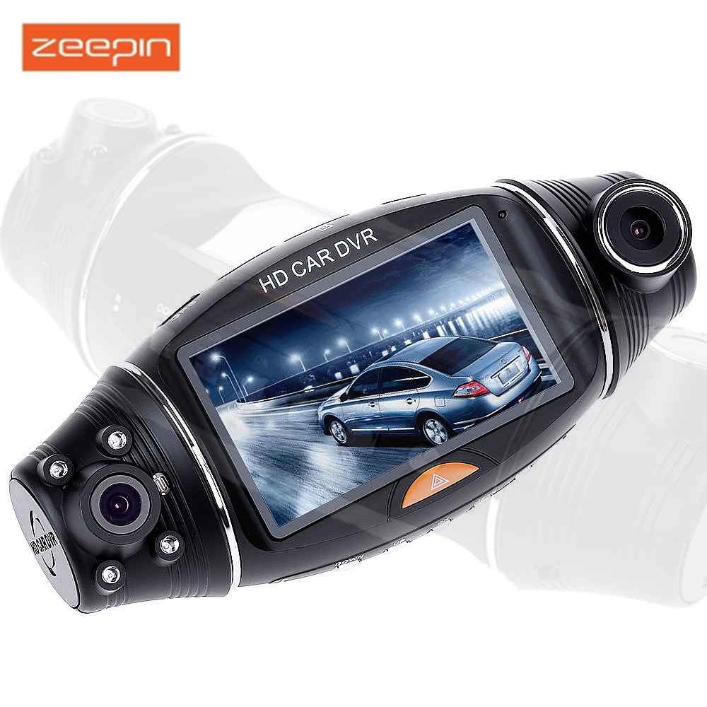 Zeepin Car DVR Dash Cam 2.7 Inch HD Dual Camera Lens Rear View IR Night Vision GPS Positioning Camera Recorder