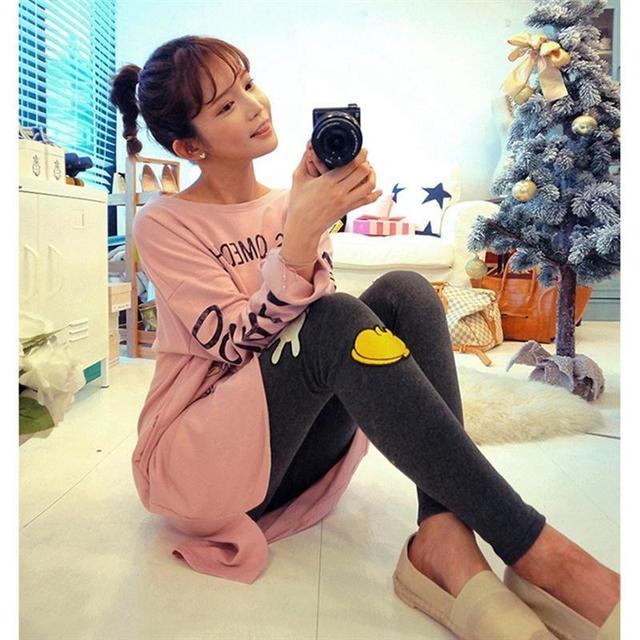 XXL Chica Pijama Pijama Feminino Femme vestido Ppajama Pigiami Chándal Más El Tamaño Pijamas de Algodón Para Las Mujeres